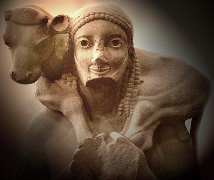 Archaic Greek Art - The Moscophoros of the Acropolis