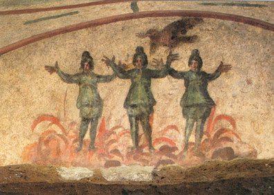 Three Youths in the Fiery Furnace – Catacomb of Priscilla