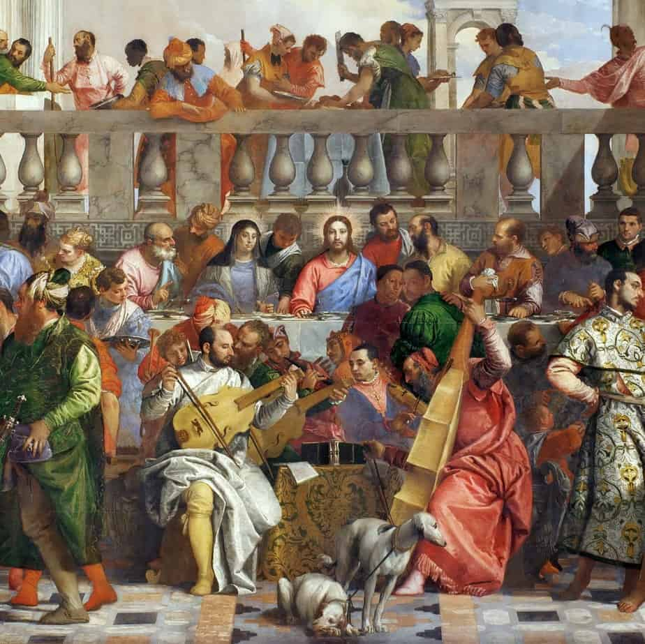 Wedding Feast At Cana.The Wedding At Cana By Paolo Veronese