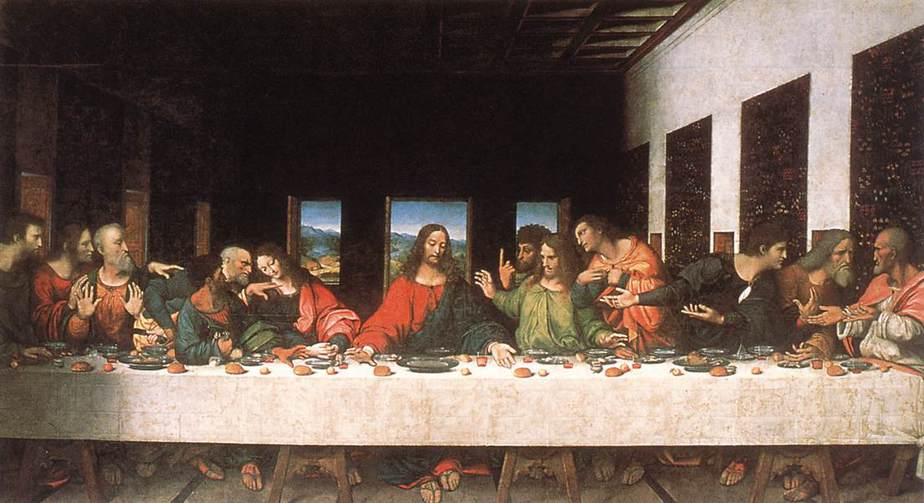 The Last Supper is a painting produced in three years 1495-1498. by Italian artist Leonardo da Vinci.