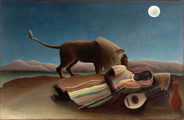 The Sleeping Gypsy is a painting produced in 1897 by French artist Henri Rousseau.