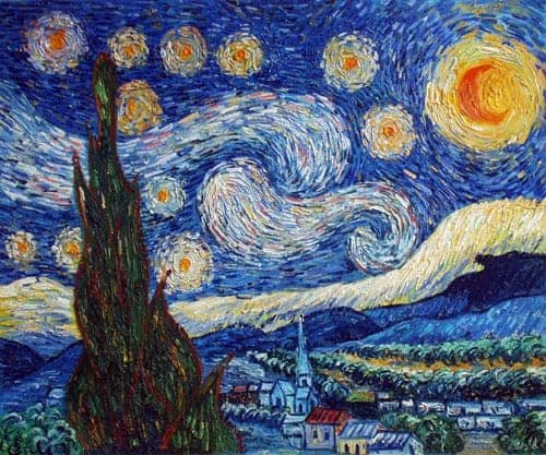 What Did Vincent Van Gogh Use To Paint Starry Night
