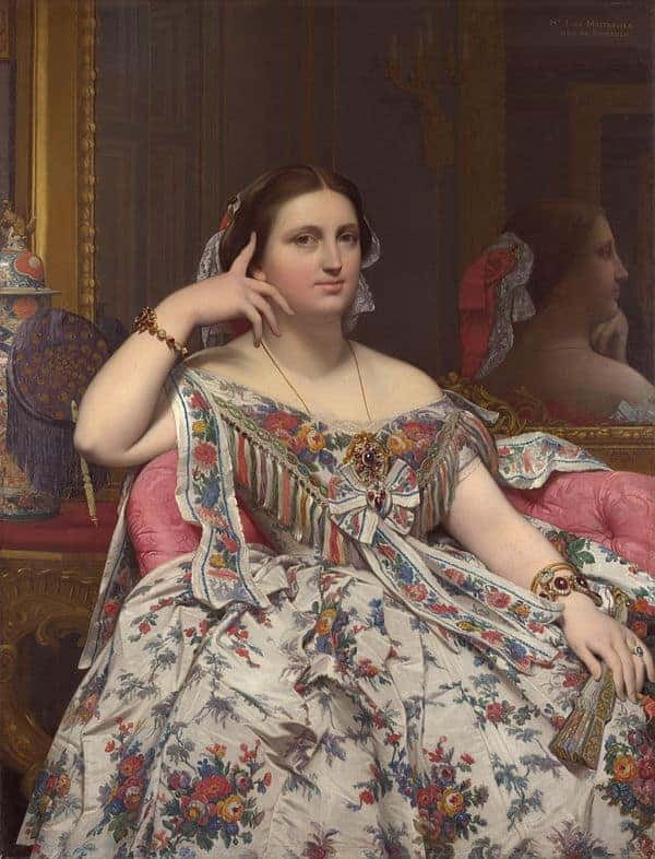 Madame Moitessier Painting by Jean Auguste Dominique Ingres