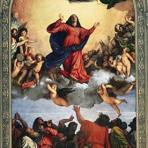 Assumption of Virgin Painting by Titian