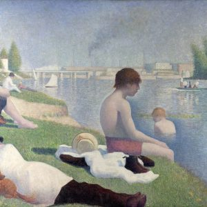 Bathers at Asnieres Painting by Georges Seurat.