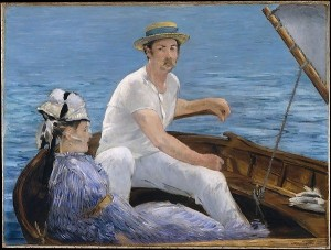 Boating Painting by Edouard Manet.