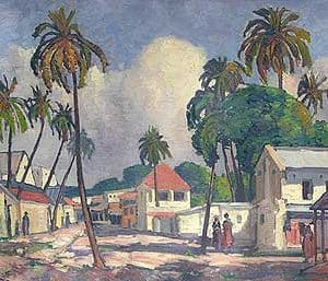 Dar-es-Salaam Painting by Jacobus Hendrik Pierneef.