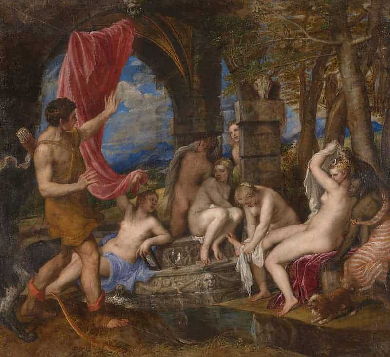 Diana and Actaeon Painting by Titian