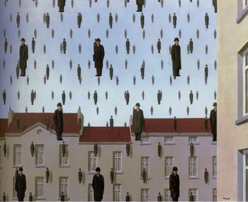 Golconda Painting by Rene Magritte.