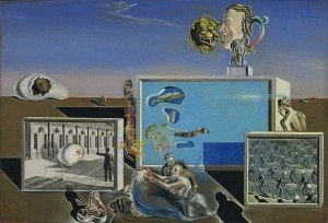 Illumined Pleasures Painting by Salvador Dali.