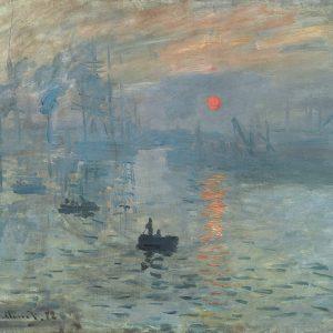 Impression Sunrise Painting byClaude Monet.