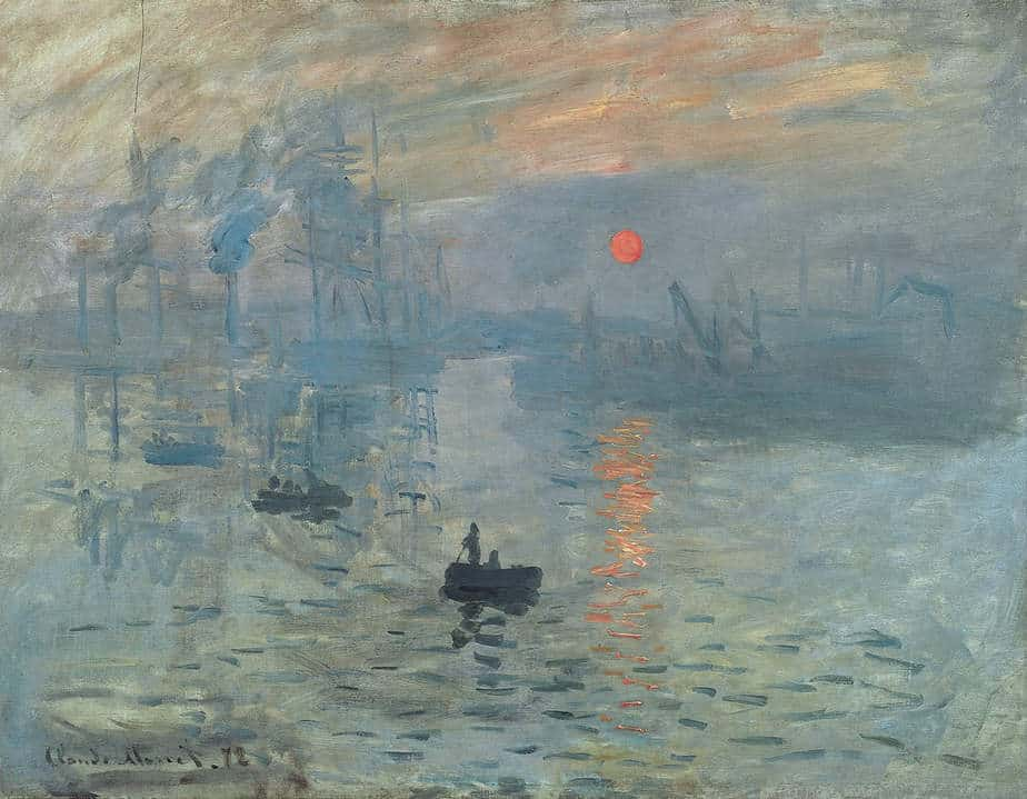 Impression Sunrise Painting byClaude Monet.