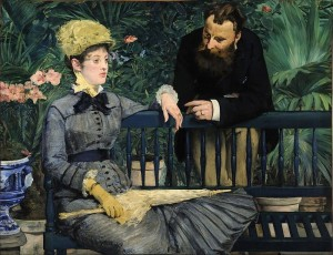 In the Conservatory Painting by Edouard Manet.