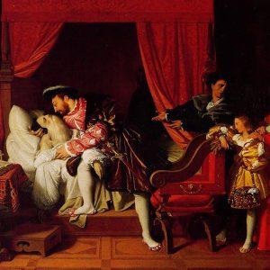 The Death of Leonardo da Vinci Painting by Jean Auguste Dominique Ingres