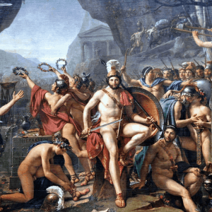 Leonidas at Thermopylae Painting by Jacques Louis David