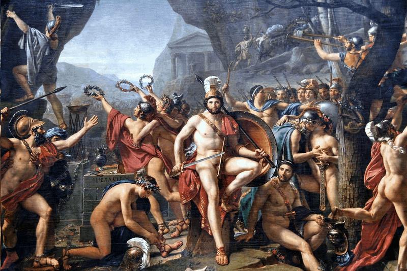 Leonidas at Thermopylae Painting by Jacques Louis David