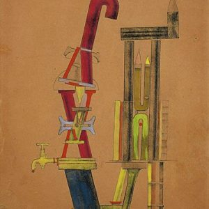 Little Machine Constructed by Minimax Dadamax in Person Painting by Max Ernst.