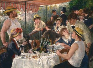 Luncheon of the Boating Party Painting Pierre Auguste Renoir.