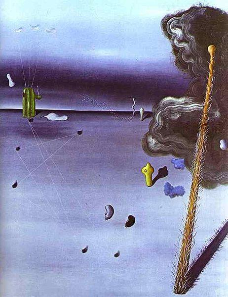 Mama, Papa is wounded Painting by Yves Tanguy.
