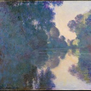 Morning on the Seine near Giverny Painting by Claude Monet.