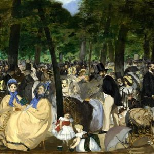Music in the Tuileries Painting by Edouard Manet.