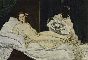 Olympia Painting by Edouard Manet.