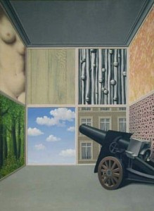 On the Threshold of Liberty Painting by Rene Magritte.