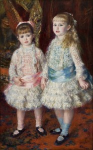 Pink and blue Painting by Pierre Auguste Renoir.