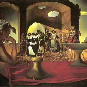Slave Market with the Disappearing Bust of Voltaire Painting by Salvador Dali.