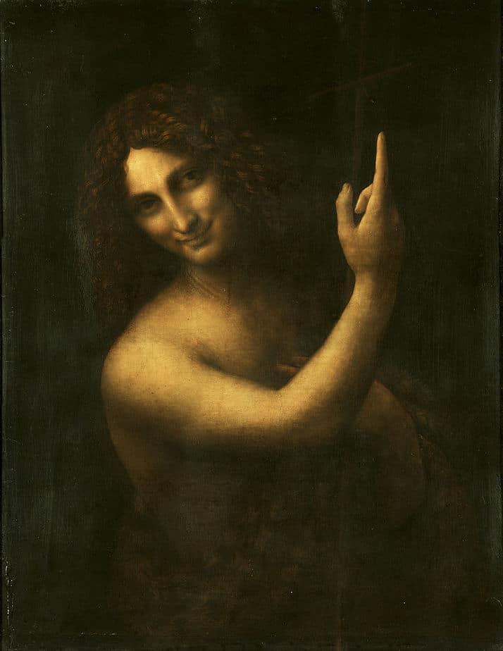 St. John the Baptist Painting by Leonardo da Vinci