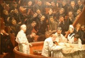 The Agnew Clinic Painting by Thomas Eakins.