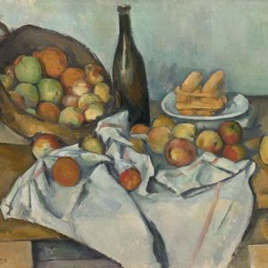 The Basket of Apples Painting by Paul Cezanne.