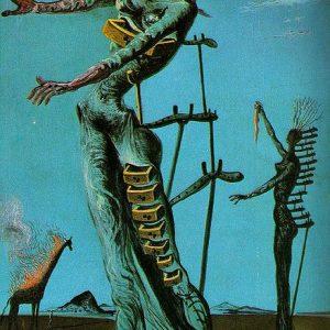 The Burning Giraffe Painting by Salvador Dali.
