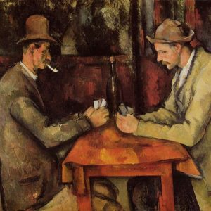 The Card Players Painting by Paul Cezanne