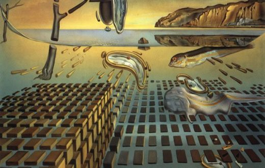 The Disintegration of the Persistence of Memory Painting by Salvador Dali.