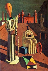 The Disquieting Muses Painting by Giorgio de Chirico.