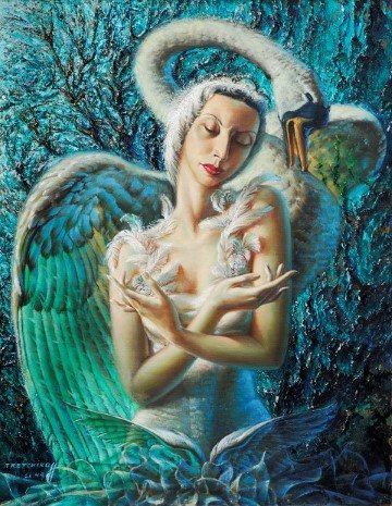 The Dying Swan Painting by Vladimir Tretchikoff.