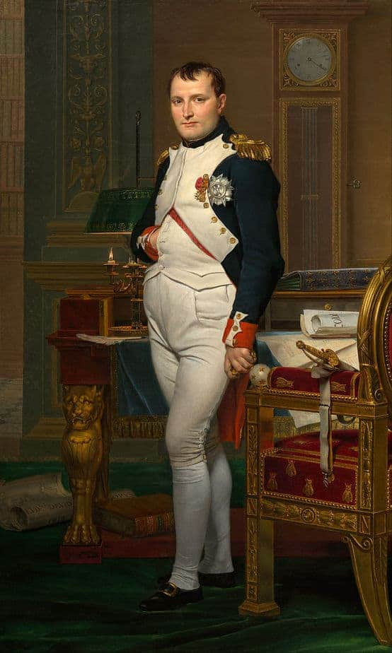 The Emperor Napoleon in His Study at the Tuileries Painting by Jacques Louis David