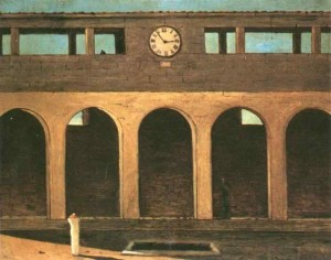 The Enigma of the Hour Painting by Giorgio de Chirico