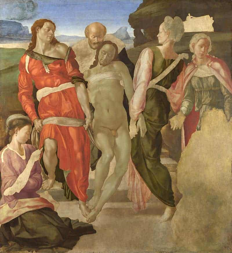 The Entombment Painting by Michelangelo