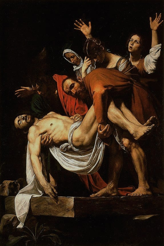 The Entombment of Christ by Caravaggio
