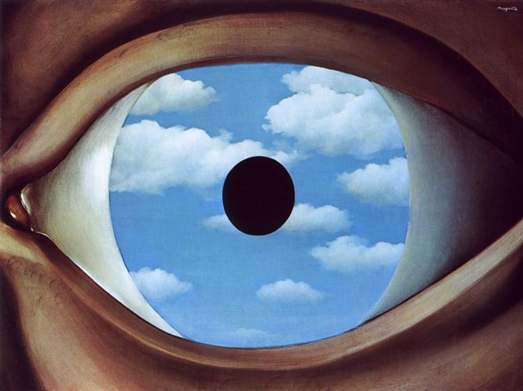 The False Mirror Painting By Rene Magritte