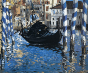 The Grand Canal of Venice Painting by Edouard Manet.