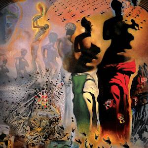 The Hallucinogenic Toreador Painting by Salvador Dali.