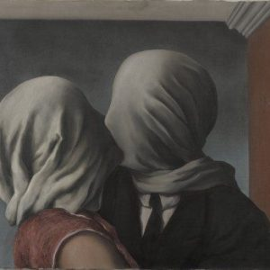The Lovers Painting by Rene Magritte.
