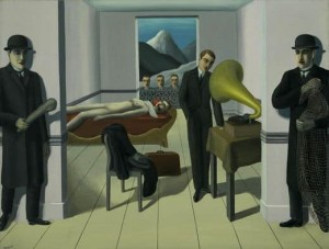 The Menaced Assassin Painting by Rene Magritte.