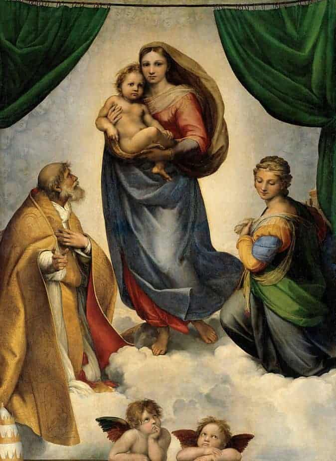 The Sistine Madonna Painting by Raphael