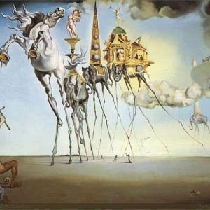 The Temptation of St. Anthony Painting by Salvador Dali.