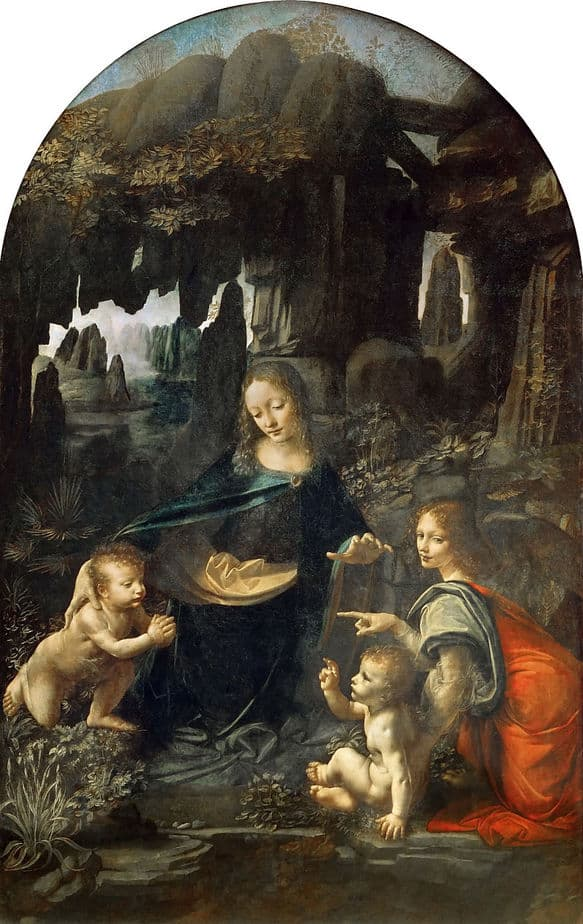 Virgin of the Rocks Painting by Leonardo da Vinci.