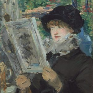 Woman Reading Painting by Edouard Manet